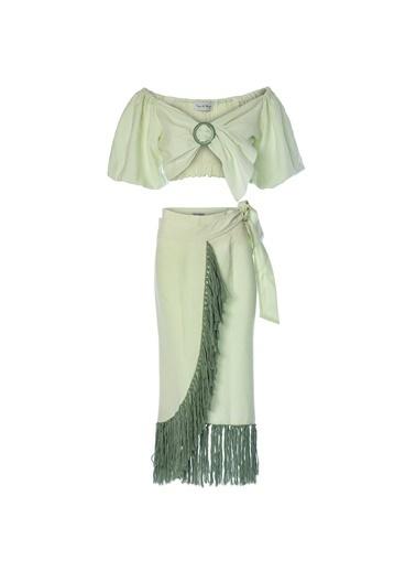 Women&Women Elbise Yeşil